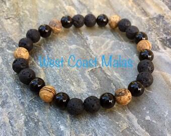 Men's Lava Stone Diffuser Gemstone Bracelet