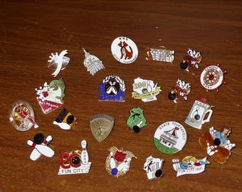 Lot of 22 Vintage Wisconsin WWBA Bowling Pins - Free Shipping