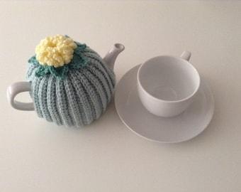 Crochet Tea Cosy, 1-2 cup teapot, retro, Duck Egg, Handmade, Tea pot cover, campervan, style,bykimbles,kitchen accessory,spring, Tea Cosy