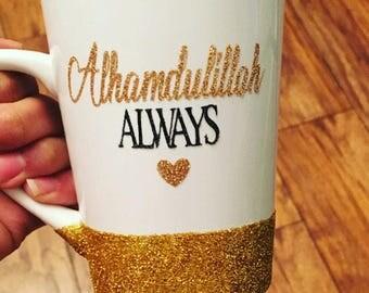 Personalized glitter mug