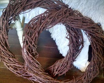 Handwoven grapevine wreaths