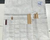 Black and Cream  DPN or Crochet Hook Case