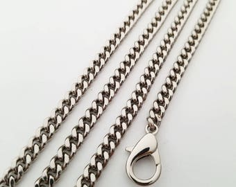 silver chain strap purse strap wallet strap bag handbag strap Crossbody chain links Replacement Chain Strap width 5.5mm 1pcs