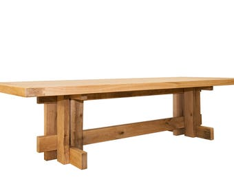 Table 300 x 120 rustic oak