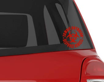 Zombie Outbreak Response Vehicle Decal, Zombies, Vinyl Decal, Decals , Car Windows, Toolboxes