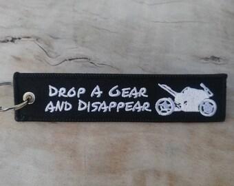 DROP GEAR DISAPPEAR Black Key Tag/Ring
