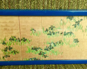 Irises By Watanabe Shiko Japanese 1683-1755