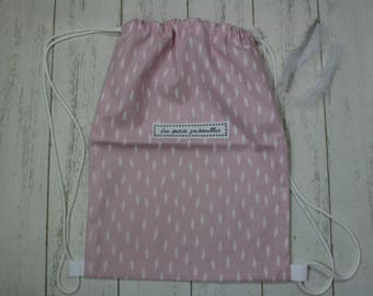 Sac à dos en coton imprimé PLUME / sac à gouter - Les petits gribouillis / cadeau de naissance