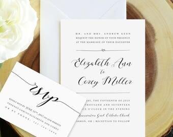 Infinity Heart Wedding Invitation