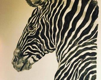 Original Zebra Watercolor