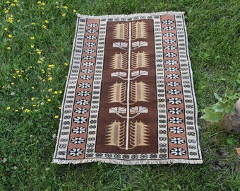 Rare Geometric Design Vintage Turkey Rug Free Shipping Decorative Rug 2.1 x 2.8 feet Bohemian Rug Aztec Rug Boho Rug Nomadic Rug Code260