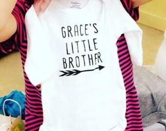 Personalized Little Brother/Little Sister onesie (newborn+)