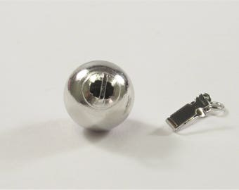 10 OR 12 mm Genuine .925 Sterling Silver Smooth Shiny Ball Clasp, Sterling Silver Ball Clasp, .925  Silver Ball Safety Clasps (435-SCL1012)