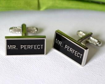 Mr Perfect Cufflinks