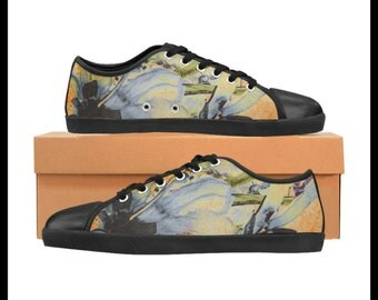 Artsy Bouquet Custom Designed Women's Classic Low Top Canvas Sneakers