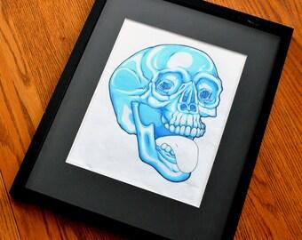 Blue Skull Illustration