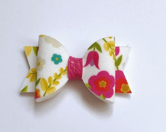 SALE - Summer flowers small dolly bow