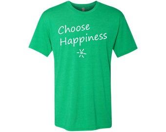 Choose Happiness Men's Travel T-Shirt