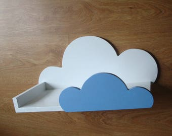 A large cloud shelf with a stop