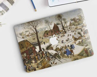 "Pieter Bruegel, ""Census at Bethlehem"". Macbook Pro 15 skin, Macbook Pro 13 skin, Macbook 12 skin. Macbook Pro skin. Macbook Air skin."