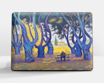 """Laptop skin (Custom size). Paul Signac, """"Place des Lices"""".  Laptop cover, HP, Lenovo, Dell, Sony, Asus, Samsung etc."""