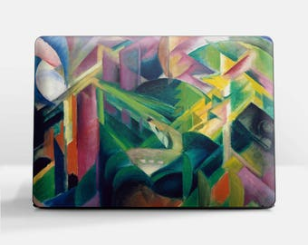 "Laptop skin (Custom size). Franz Marc, ""Deer in a Monastery Garden"".  Laptop cover, HP, Lenovo, Dell, Sony, Asus, Samsung etc."