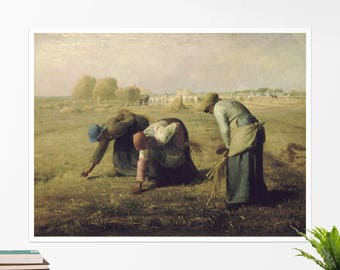 "Jean Francois Millet, ""The Gleaners"". Art poster, art print, rolled canvas, art canvas, wall art, wall decor"
