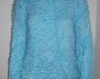 Fluffy Knit sweater Hand Knitted