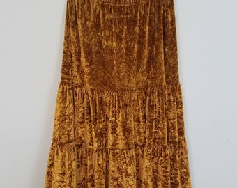Vintage Velvet Skirt - size small/medium #343