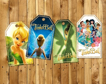 TINKERBELL Thank You Tag, TINKERBELL Gift Tags, TINKERBELL Tags, Party Tag, Movie Printables  | TI_TAGE
