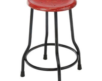 Farmhouse 18 Inch Dining Stool, Red