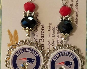 New England Patriots   Earrings style #2