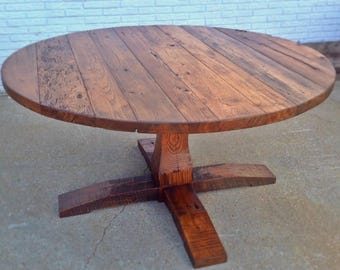 Reclaimed Round Table-Barnwood Dining Table,Barnwood Table,Barn Wood Table,Barnwood Tables,Reclaimed Barnwood,Reclaimed Round,Round Table