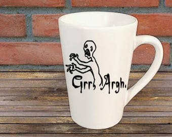 Grr Argh Buffy the Vampire Slayer Mutant Enemy Horror Mug Coffee Cup Halloween Home Decor Bar Gift for Her Him Any Color Personalized Custom