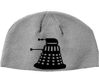 Doctor Who Dalek Exterminate BBC Dr.  Beanie Knitted Hat Cap Winter Clothes Horror Merch Massacre Christmas Black Friday