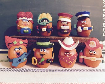 RARE 1988 McDonald's Dress Up Chicken Nuggets Happy Meal Toys