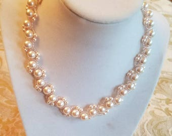 Pretty in Pink Pearls Necklace
