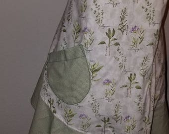 Herb Apron with Green Ruffle
