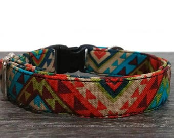 Aztec Cat Collar, Colorful Collar, Cat Collar, Cat Collars, Personalized Cat Collar, Tribal Cat Collar, Breakaway Cat Collar, Safe Collars