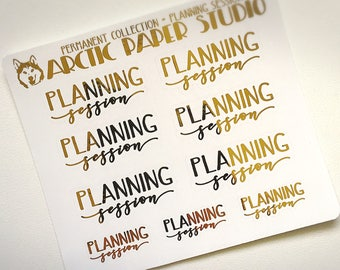 Planning Session LARGE - Premium Permanent Collection - FOILED Sampler Event Icons Planner Stickers