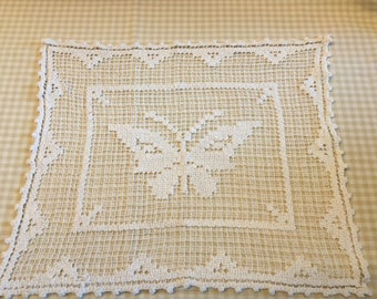 Stunning Antique French/ Vintage/crochet/filet/lace panel
