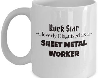 Sheet Metal Iron Worker - Rock Star Gift Coffee Tea Mug