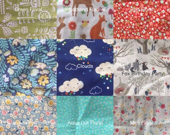 Fabric Choices for Bows, Floral Hair Accessories, and Bowties.