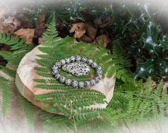 Bracelet beads 10 mm Dalmatian Jasper