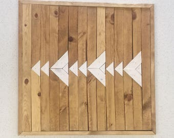Reclaimed Wood Triangle Wall Art