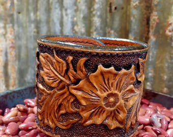 Tooled Leather Cuff