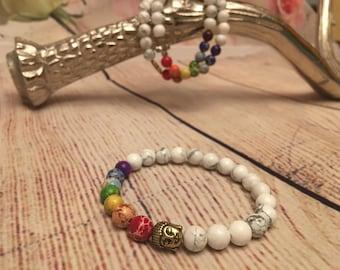 7 Chakra Bracelet • Buddha Charm Bracelet • Healing Jewelry • Healing Bracelet • Yoga Bracelet • Mala Bracelet • OM Bracelet