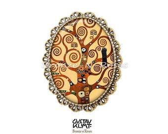 ° Spirals cabochon bronze Gustav klimt reproduction brooch pin (tree of life)