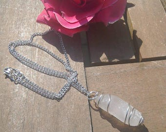 Genuine Sea Glass silver plated 46cm necklace in silver plated beadcage