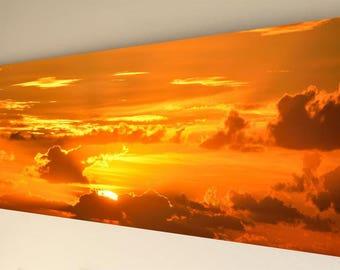 Panorama Canvas Wall Art - Golden sunrise [A21] - choice of size